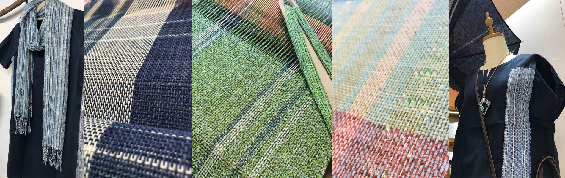 クロバー社の織り機「咲きおり」を使った手織りの数々を紹介します